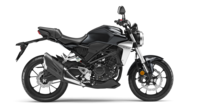 Gama 125cc de Honda. Foto del lateral derecho de la Honda CB125R color negro