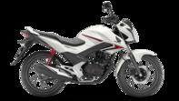 Gama 125cc. Foto del lateral derecho de La Honda CB125F color blanco
