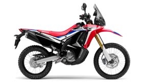 Off-road. Vista lateral Honda CRF250 Rally