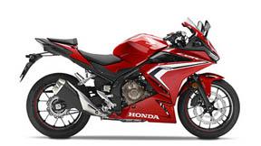 Imagen del lateal izquierdo de la Honda cbr 500 r 2019 con fondo transparente