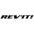 Logo rev'it de color negro sobre fondo blanco